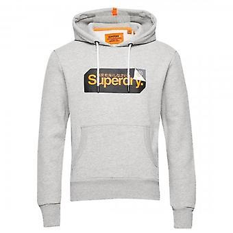 Superdry Core Logo Tag Hoody Grey Marl 07Q