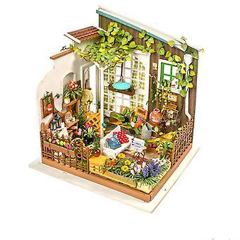 Миллер-апос;s Сад DIY Деревянные миниатюрные кукольный домик 1:24 Ручной кукольный дом Модель Строительство Комплекты Игрушки для детей взрослых