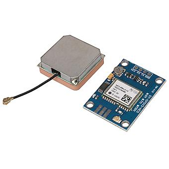 GPS 3V-5V Microcontroller Receiver with Data Backup Battery&Antenna