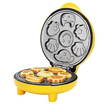Cartoon Cake Machine Automatic Mini Egg Waffles Children Bread Machine Double-sided Baking Breakfast Machine