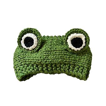 Nieuwigheid Cute Big-eyed Frog Oren Gebreide Cap Soft Warm Comfortabele Winter