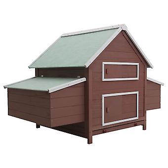 قن الدجاج براون 157 × 97 × 110 سم الخشب