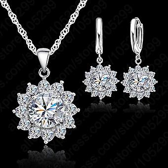 Crystal Pendants  And Earrings Set