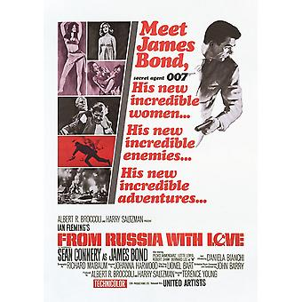 James Bond From Russia With Love Postcard