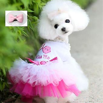 Small Dogs Dress Sweety Princess Dress Spring Summer Puppy