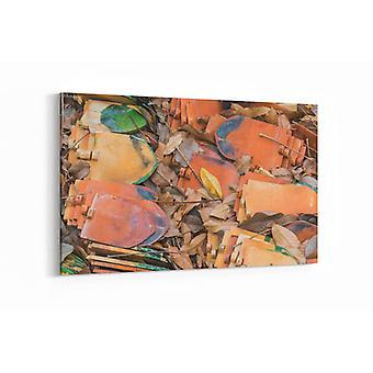 Schilderij - Blad en metaal — 90x60cm