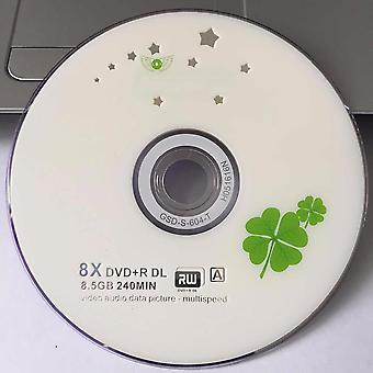 10 Discs Grade A X8 8.5 Gb Blank Clover Printed Dvd+r Dl Disc