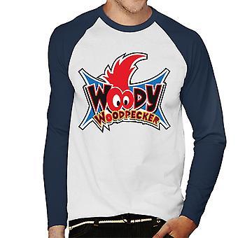 Woody Woodpecker Ojos Logo Hombres's Baseball camiseta de manga larga