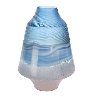 """Glas 14"""" Vase Blau/Rosa"""