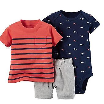 Summer Baby Camiseta, Short y Romper Set, Diseño 17