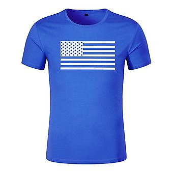 Mens Fitness Gym Bodybuilding Workout Skinny Kortärmad bomull T Shirt