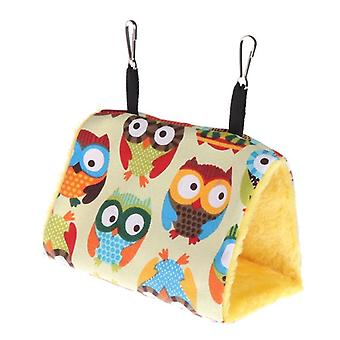 Fashion Plush Bird Hanging Cave Cage Parrot  Hanging Warm Winter Birds