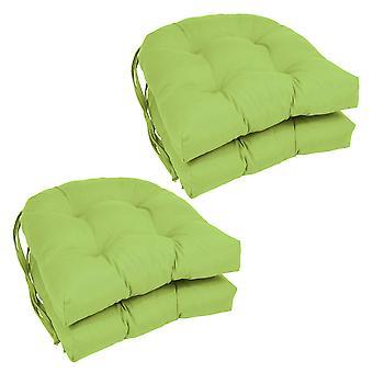 Cojines de silla con forma de U de voluntad maciza de 16 pulgadas (juego de 4) - Lima Mojito