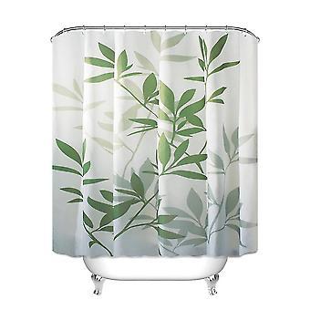 Bladeren afdrukken waterdicht schimmelbestendige badkamer douchegordijn