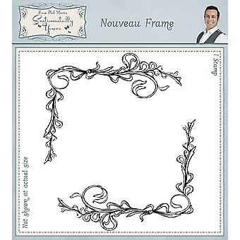 Sentimentally Yours Nouveau Frame Pre Cut Rubber Stamp
