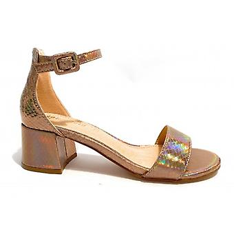 Women's Gold & Gold Tc 45 Ankle Sandal Laminated Old Gold Ds20gg41
