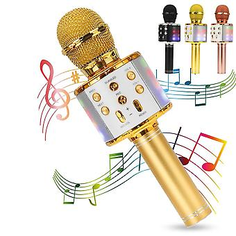 Bezdrôtový Bluetooth mikrofón 360 Sound Pickup Karaoke Mikrofón Profesionálny reproduktor