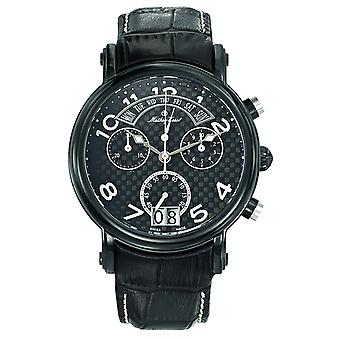 Mathey Tissot Men's Retrograde Chrono Black Dial Watch - H7030RSB
