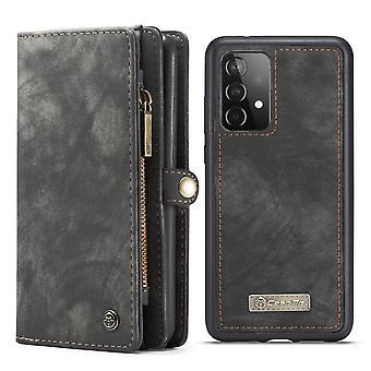CASEME Samsung Galaxy A52/A52s Retro Wallet Funda - Gris