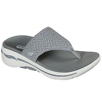 Skechers Go Walk Arch Fit Womens Toe Post Sandals
