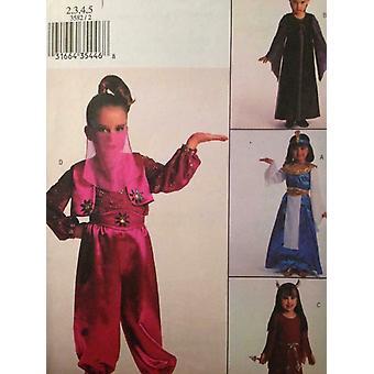 Butterick نمط الخياطة 3582 الفتيات الطفلات الغجر الشيطان Sz المصرية 6-8 Uncut