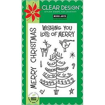 Hero Arts Lots Of Merry Clear Stamp