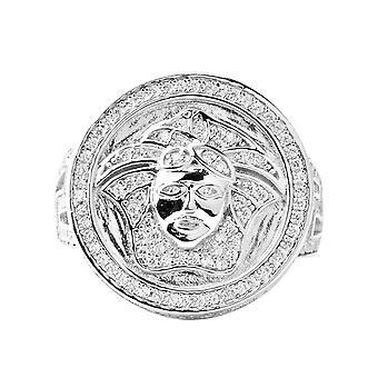 Premium bling - anillo de plata 925 - MEDUSA