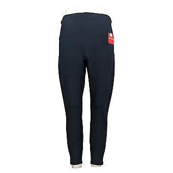 Spanx Women's Petite Pants Ankle Length Leggings Navy Blue A369379