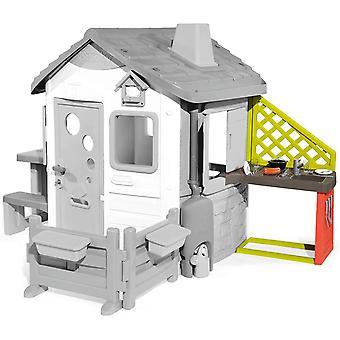 HanFei 810901 Anbau-Kche fr HanFei Spielhuser Spielkche fr Spielhaus, mit viel Zubehr, Sple, Grill,
