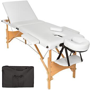 tectake Massagebriks med 3 zoner, polstring + taske - hvid