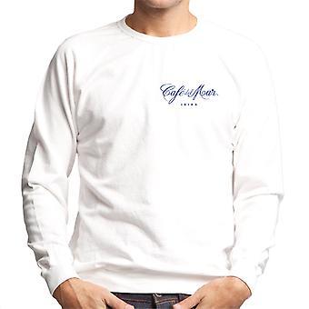 Cafe del Mar Classic Blue Logo Pocket Print Men's Sweatshirt