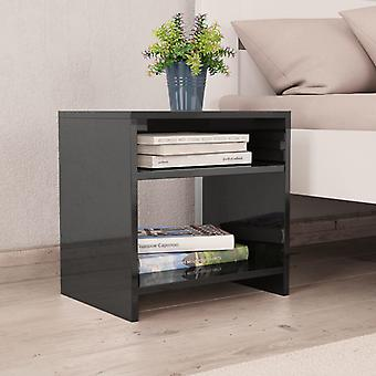 vidaXL السرير الجدول الأسود لمعان عالية 40 × 30 × 40 سم اللوح