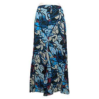 Antthony Skirt Medium Chiffon Overlay Printed Gore Marina Floral 716485