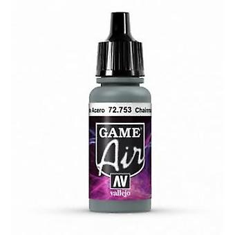 Vallejo Jeu Air 17ml Acrylique Airbrush Paint 72.753 Chainmail Argent