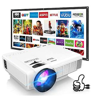 Professional Hi-04 Mini Projector Outdoor Movie Projector , 1080p Hdmi Connector Supported Compatible