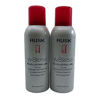 Rusk W8less Spray Gel Firm Hold 5.3 OZ Set of 2