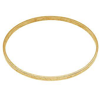 Nunn Design Antiqued 24kt Gold Plated Round Bangle Bracelet - 2 3/4 Inch  (1)