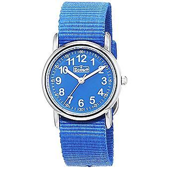 צופה 280304000 - שעון יד של ילד, רצועת בד כחול