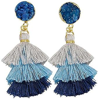 KYEYGWO Women's earrings with tassels in bohemian style, with crystal thread, for the healing of trees and drops Ref. 0715444084423