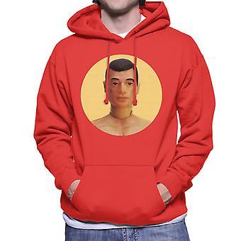 Action Man Character Head Men's Hooded Sweatshirt