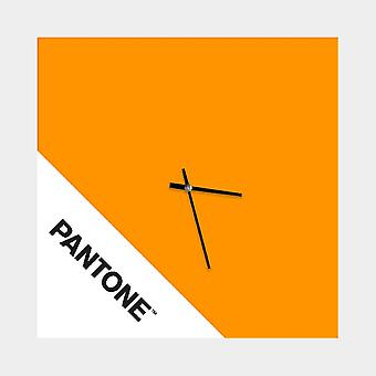 PANTONE Klocka Dubbel färg Orange, Vit, Svart, Metall L40xP0.15xA40 cm
