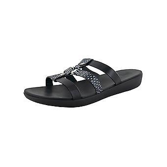 Fitflop Mujer Hoopla Cuero Open Toe Slide Sandal Shoes