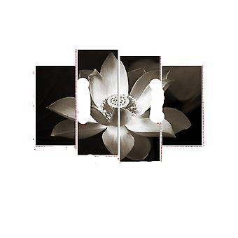 4Pcs lotus flowers canvas wall painting for home office