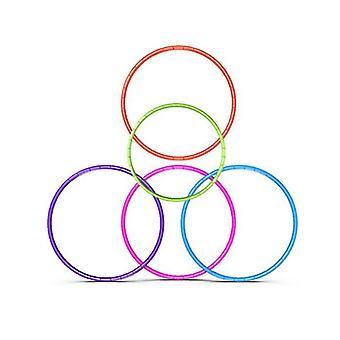 الأزرق 8 عقدة قابلة للطي هولا هوب 70cm اللياقة البدنية ممارسة الصالة الرياضية تجريب hoola للأطفال az18682