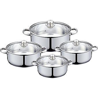Set di casseruole, acciaio inossidabile - 4 vasi