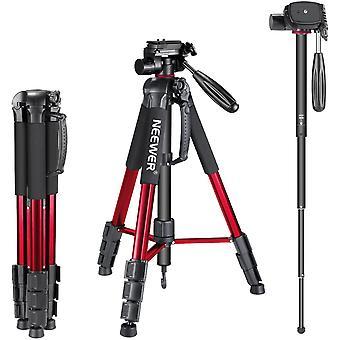 Wokex Portable 70 Zoll / 177 Zentimeter Aluminiumlegierung Kamera Stativ Einbeinstativ mit 3-Wege schwenkbarer Pfanne