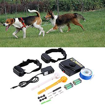 New Underground Electric Dog Fence Fencing System 2 Shock Collar Waterproof