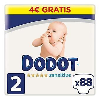 Disposable nappies Sensitive Dodot Size 2 (88 uds)