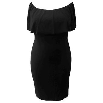 Almost Famous Womens Trendy Plus Size Off-The-Shoulder Bodycon Dress