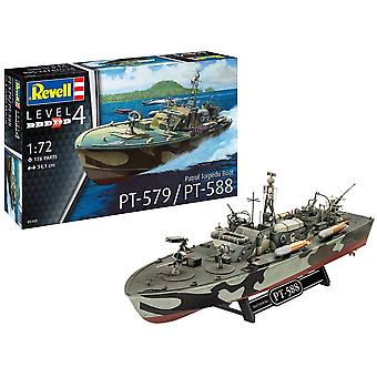05165 Patrol Torpedo Boat PT-588/PT-579, Schiffsmodellbausatz 1:72, 34,1 cm originalgetreuer